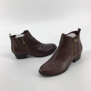 Unisa Brown moto Ankle Boots Size 7.5